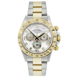 Rolex Daytona 116523 Two Tone MOP Diamond Dial Watch