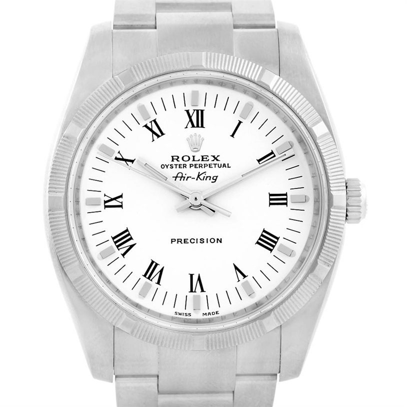 """Image of """"Rolex Oyster Perpetual Air King 114210 Stainless Steel White Roman"""""""