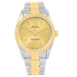 Rolex Oyster Perpetual 14233 Stainless Steel & 18K Yellow Gold 34mm Mens Watch