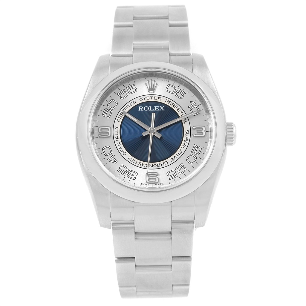 """Image of """"Rolex Oyster Perpetual 116000 Stainless Steel & Silver Blue Concentric"""""""