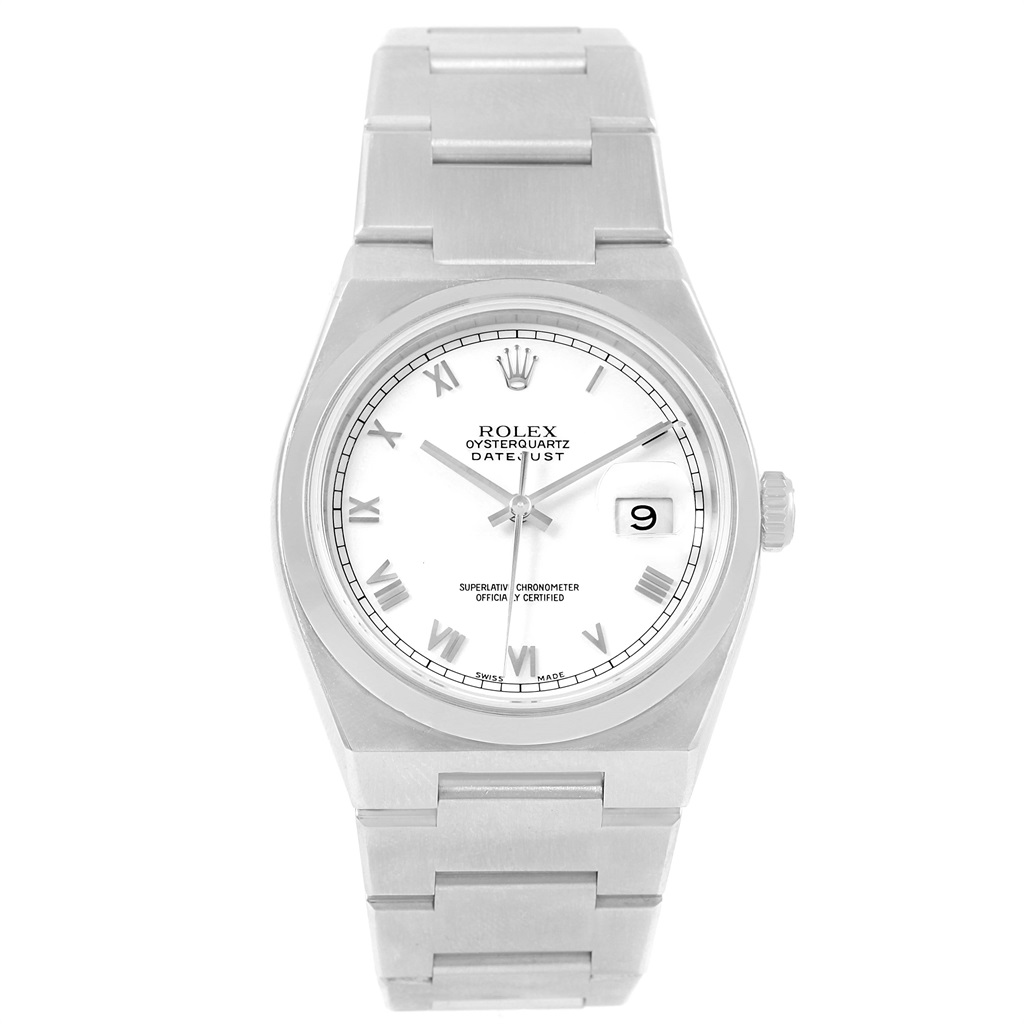 """Image of """"Rolex Oyster Datejust 17000 Quartz Stainless Steel White Dial 36mm"""""""