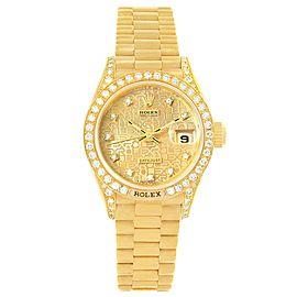 Rolex President Datejust 69158 18K Yellow Gold with Diamond Automatic 26mm Womens Watch
