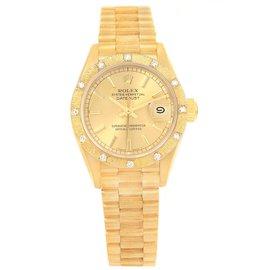 Rolex Datejust 69288 18K Yellow Gold & Diamond 26mm Womens Watch