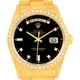 Rolex President Day-Date 18038 18K Yellow Gold Automatic Vintage 36mm Mens Watch