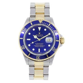 Rolex Submariner 16613 Stainless Steel & Yellow Gold Blue Dial Automatic 40mm Mens Watch
