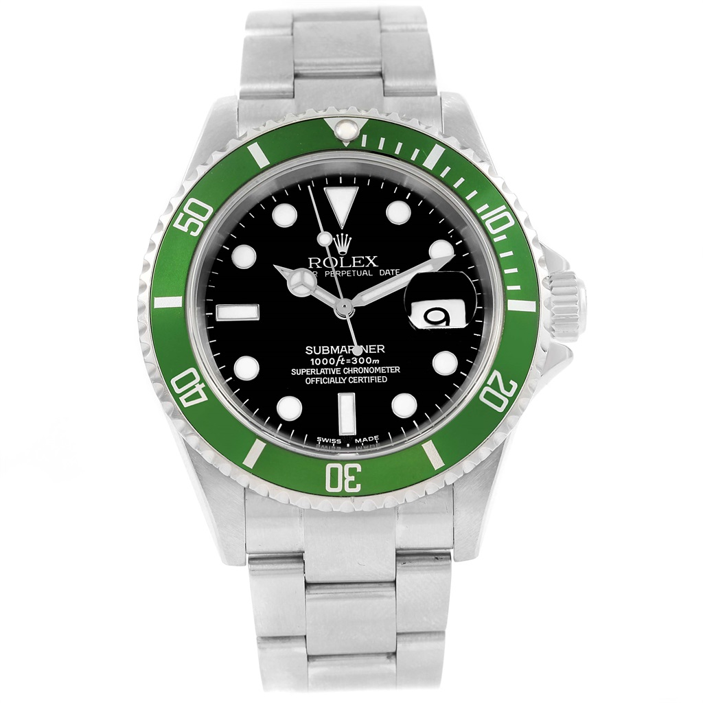 """Image of """"Rolex Submariner 16610Lv Stainless Steel & Black Dial 40mm Mens Watch"""""""