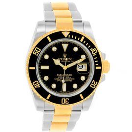 Rolex Submariner 116613 Stainless Steel/18K Yellow Gold Black Diamond Dial Automatic 40mm Mens Watch