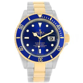 Rolex Submariner 16613 Stainless Steel/18K Yellow Gold Blue Dial Automatic 40mm Mens Watch