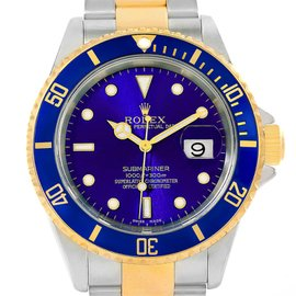 Rolex Submariner 16613 Stainless Steel and 18K Yellow Gold Blue Automatic 40mm Mens Watch