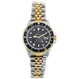 Rolex GMT Master II 2822 Stainless Steel & 18K Yellow Gold Two Tone Black Bezel Jubilee Mens Watch