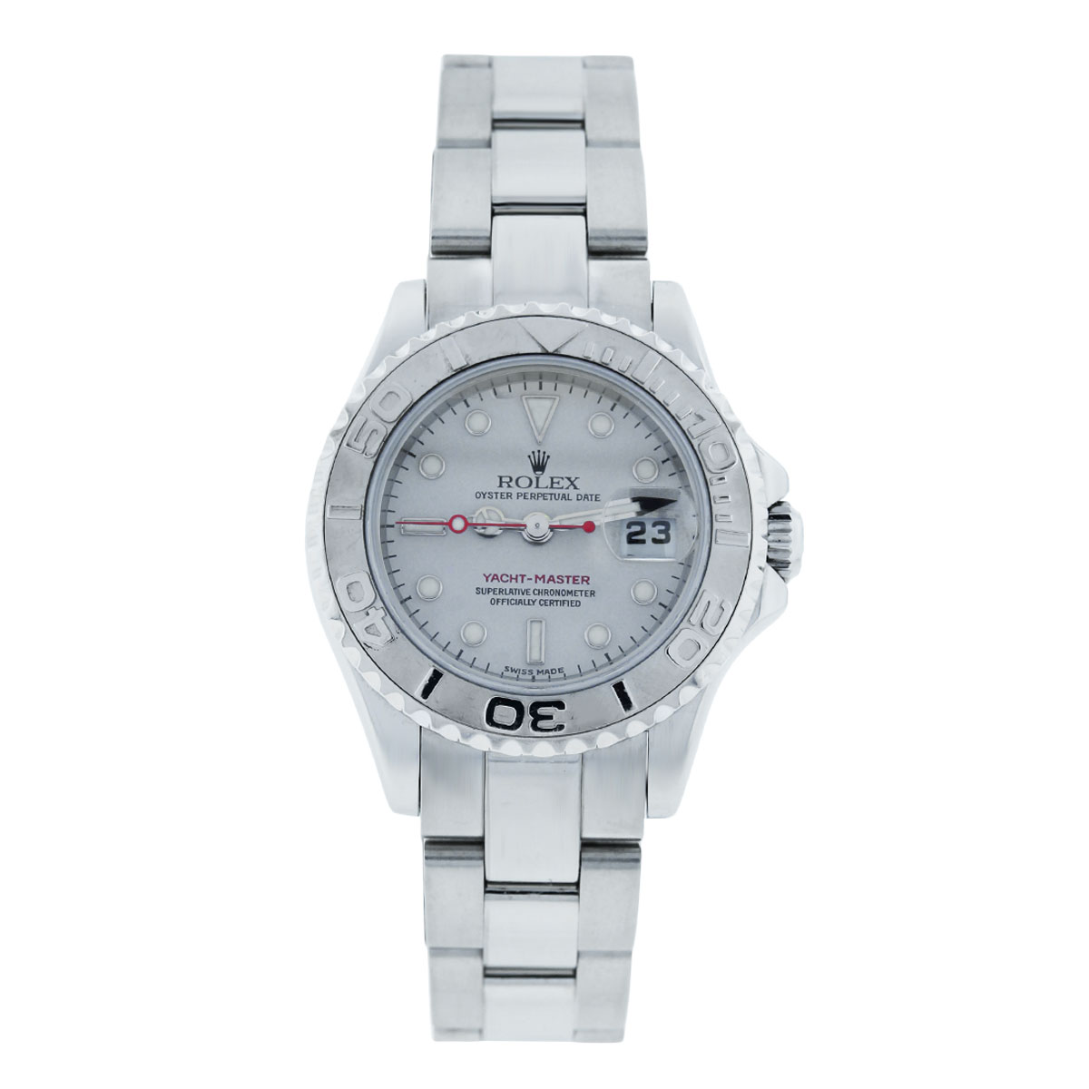 """Image of """"Rolex Yachtmaster 169622 Platinum & Stainless Steel 29mm Womens Watch"""""""