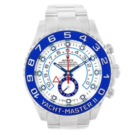 Rolex Yachtmaster II 116680 Stainless Steel White Dial Automatic 44mm Mens Watch