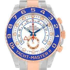 Rolex Yachtmaster II 116681 Stainless Steel 18K Rose Gold 44mm Mens Watch