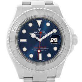 Rolex Yachtmaster 116622 Stainless Steel Platinum Blue Dial 40mm Mens Watch