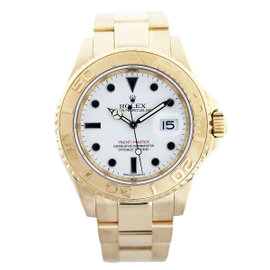Rolex Yachtmaster 16628 18K Yellow Gold 40mm Mens Watch