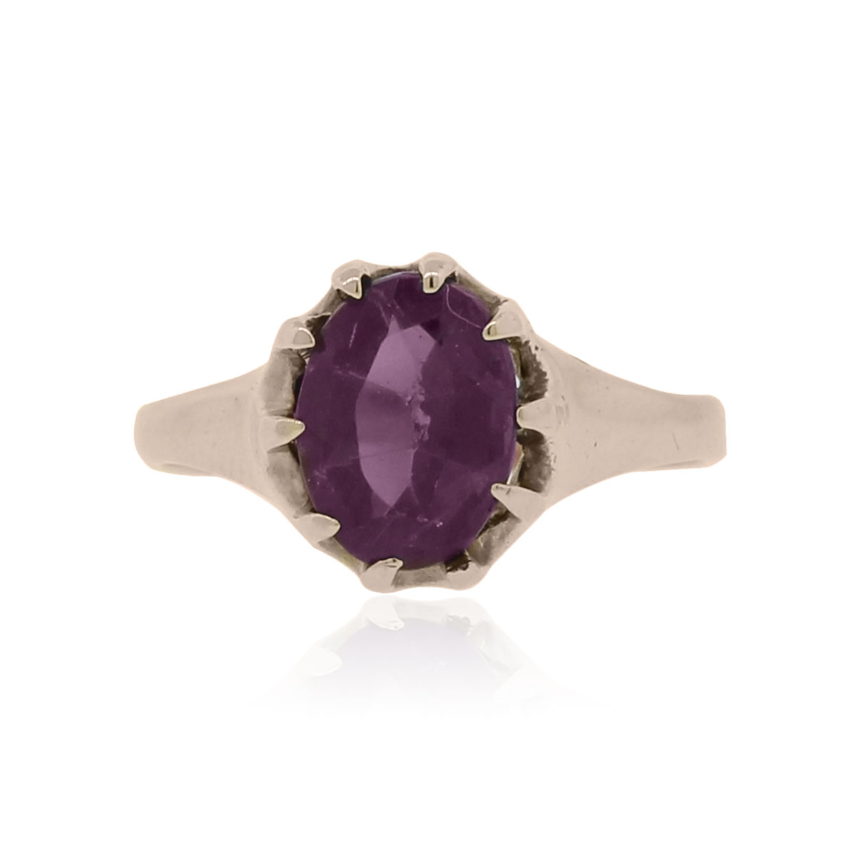 "Image of ""10k Rose Gold Amethyst Ring Size 5.25"""
