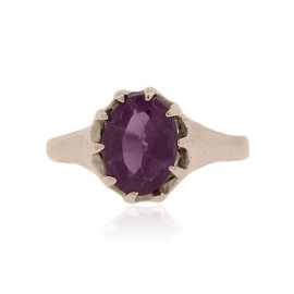 10k Rose Gold Amethyst Ring Size 5.25