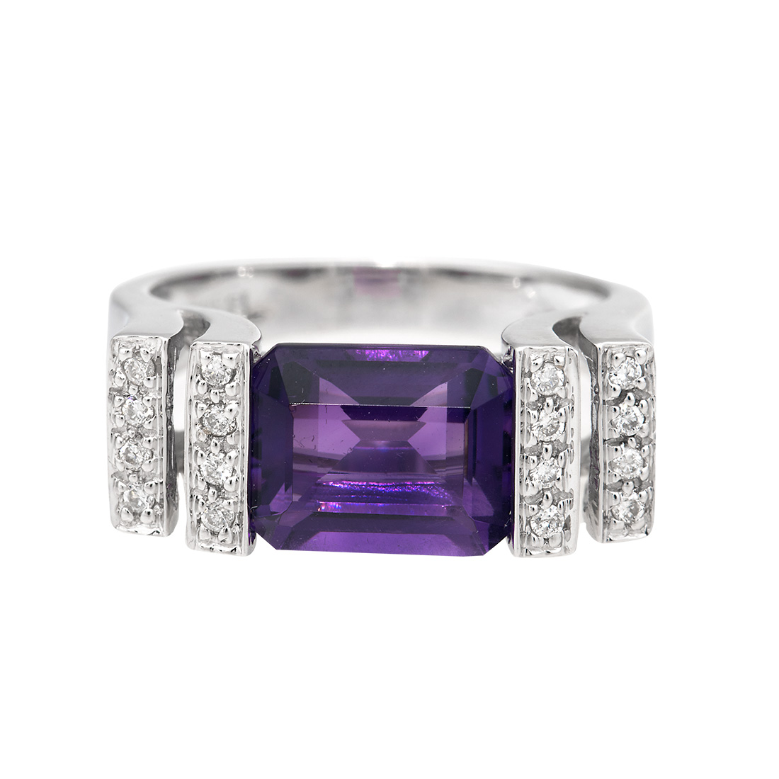 "Image of ""Amethyst Diamond Ring"""
