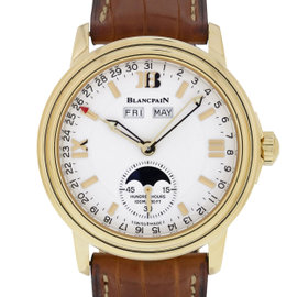 Blancpain Leman 2763-1418-53 18K Yellow Gold 38mm Mens Watch