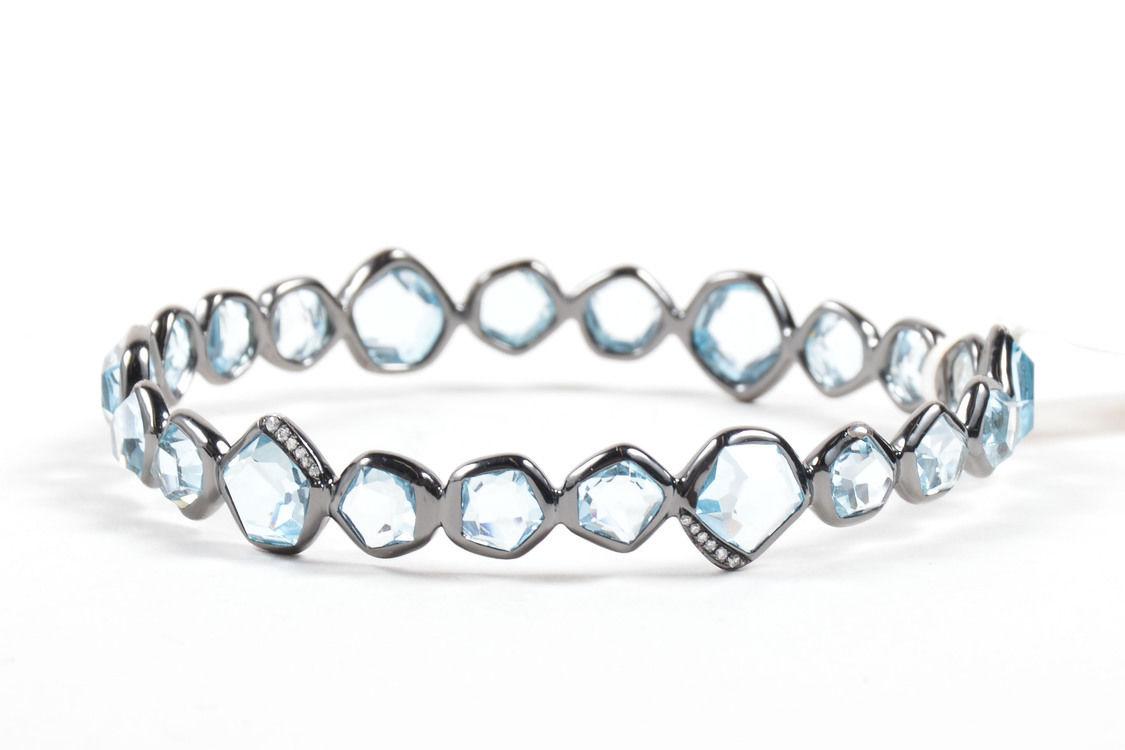 "Image of ""Ippolita 925 Sterling Silver Black Rhodium Blue Topaz Diamond Mini"""