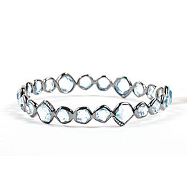 Ippolita 925 Sterling Silver Black Rhodium Blue Topaz Diamond