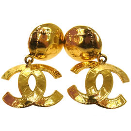 Chanel CC Logos Bag Motif Brooch Pin Gold Tone