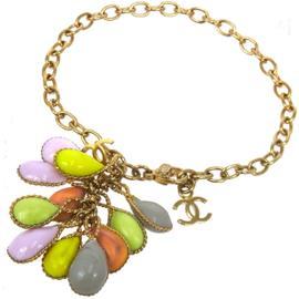 Chanel CC Logos Chain Multi Color Bracelet