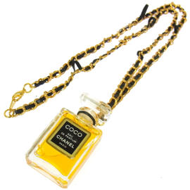 Chanel CC Logos Gold Chain Perfume Necklace