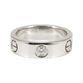 Cartier 950 Platinum Diamond Love Ring Size 5.75