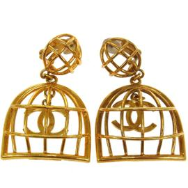 Chanel CC Logos Earrings