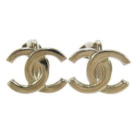 Chanel CC Logos Silver Earrings W26531b