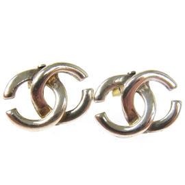 Chanel CC Logos Silver Earrings