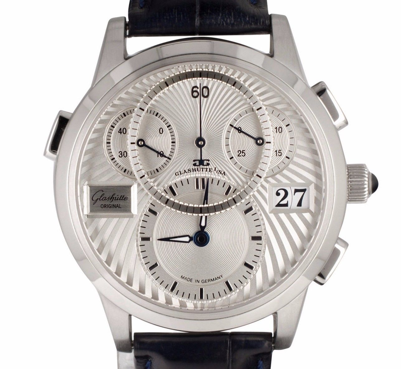 "Image of ""Glashutte PanoMatic 95-01-02-03-04 Platinum 39mm Mens Watch"""