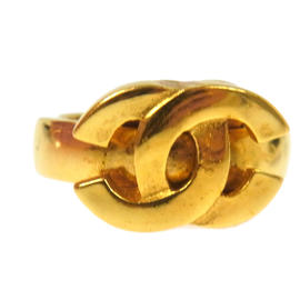 Chanel CC Logos Gold Tone Ring