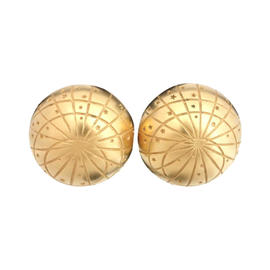 Hermes Bijouterie Fantaisie Zodiac Gold Tone Earrings