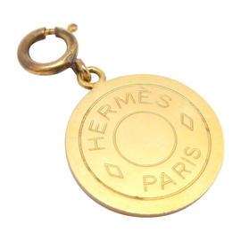 Hermes Goldtone Fantaisie Selle Pendant