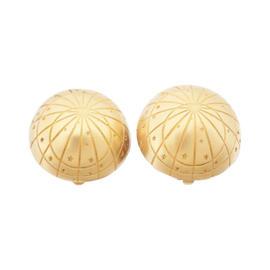 Hermes Zodiac Gold Tone Earrings