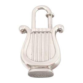 Hermes Musique Cadena Silvertone Charm Pendant