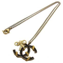 Chanel CC Logos Chain Pendant Necklace