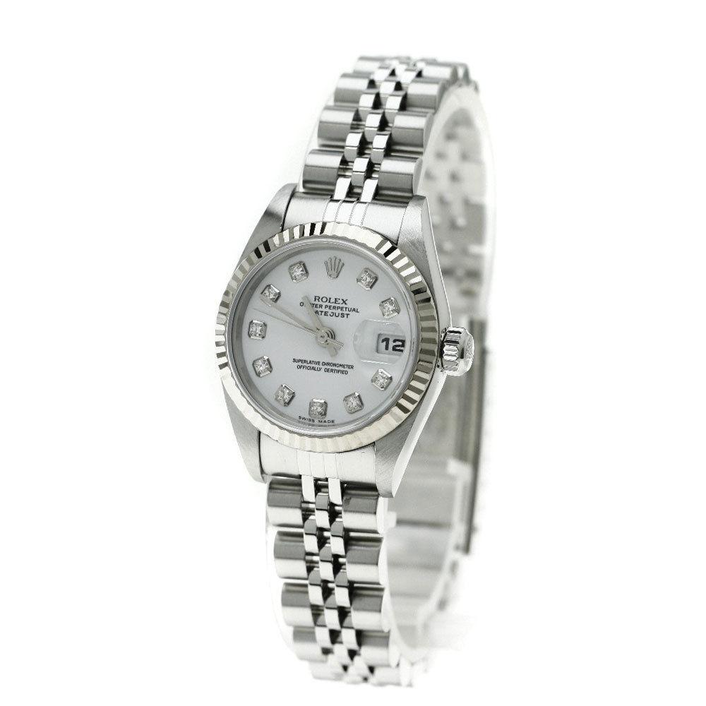 "Image of ""Rolex Datejust 79174G Stainless Steel 10P Diamond 26mm Women Watch"""