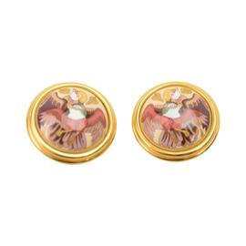 Hermes Email Birds Gold Earrings