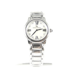 David Yurman Stainless Steel .06tcw 30mm Quartz White Mother of Pearl Diamond Dial Classic Watch