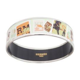 Hermes Enamel Multicolor Bangle Bracelet
