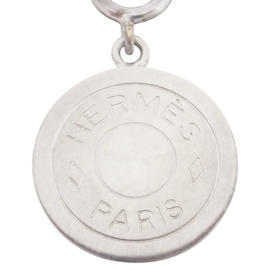 Hermes Silvertone Bijouterie Pendant