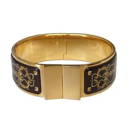 Hermes Goldtone Enamel Brown Bracelet