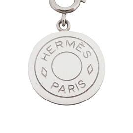 Hermes Fantaisie Selle Silver Tone Pendant