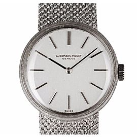 Audemars Piguet 18K White Gold 20mm Womens Watch