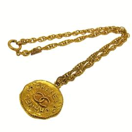 Chanel CC Logos Medallion Gold Tone Chain Necklace