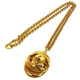 Chanel CC Logos Gold Chain Necklace