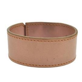 Hermes Beige Pink Leather Bangle Bracelet